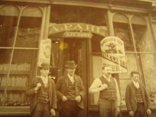Circa 1900 Liquor Store Exterior, Parkersburg, Reymann, Anheuser-Busch Signs