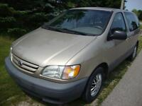 2002 Toyota Sienna, fully loaded 7 passenger, cold AC, cd player