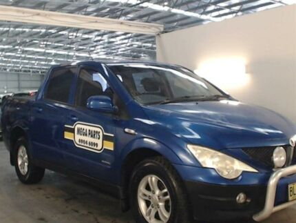 2007 Ssangyong Actyon Sports Q100 (4x4) Blue 5 Speed Manual Double Cab Utility