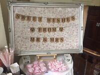 Large sweet table sign
