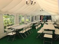 Marquee hire tables chairs