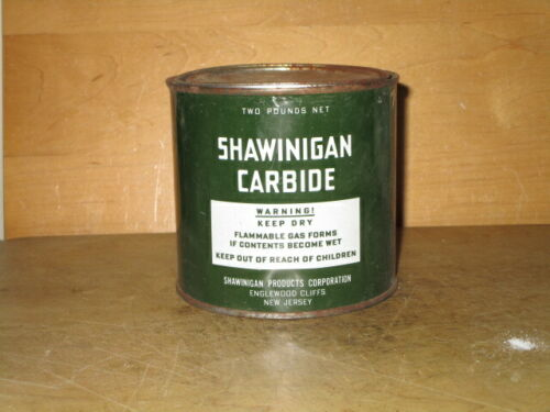 SHAWINIGAN 2LB. CARBIDE CAN for MINERS CABIDE LAMPS