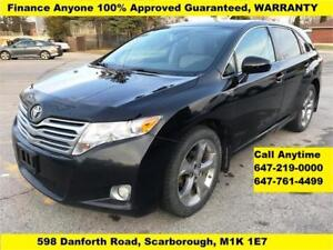 2011 Toyota Venza AWD FINANCE 100% GUARANTEED APPROVED WARRANTY
