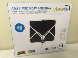 ViewTV HDTV Ultra-Thin Indoor TV Antenna 65 Miles Range