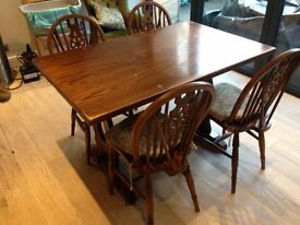 Jaycee oak Kitchen/Dining Room table and 4 chairs
