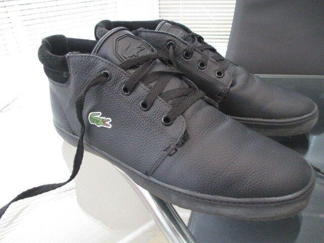 d8448d7d0 mens Lacoste Ampthill Terra leather sneaker boots size 8 black