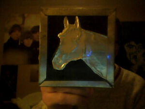 Homemade Metal Horse Picture