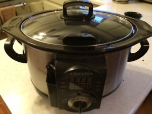Crock Pot with Meat Thermometer