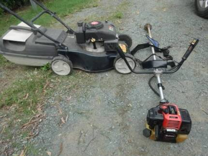 4 stroke lawn mower and 33cc brush cutter