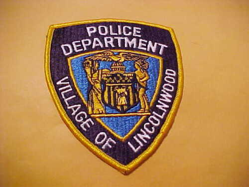 VILLAGE OF LINCOLNWOOD ILLINOIS POLICE PATCH SHOULDER SIZE UNUSED