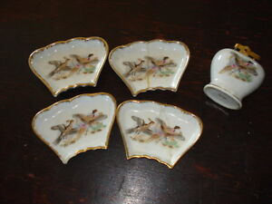 4 small ashtrays and matching cigarette lighter Peterborough Peterborough Area image 1