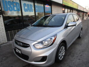 2014 Hyundai Accent 6S Hatchback,1 OWNER,CERTIFIED,B.TOOTH,CLEAN