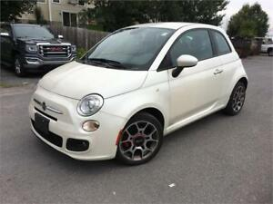 2013 FIAT 500 Sport-leather-Heated Seats-Alloys-A/C-Only 69000KM