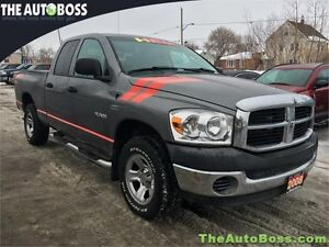 2008 Dodge Ram 1500 SXT CERTIFIED! 4X4! QUAD CAB! WARRANTY!