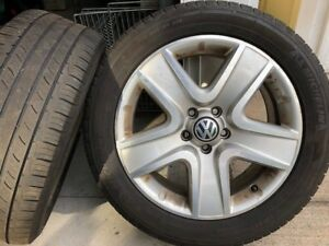 Set of 4 Tires/Rims of VW Tiguan 235/50/R18