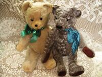 "20"", 21"" ANTIQUE VINTAGE JOINTED BEIGE OR BROWN MIX TEDDY BEARS"