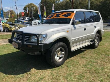 2000 Toyota Landcruiser Prado VZJ95R VX (4x4) White 4 Speed Automatic 4x4 Wagon Clontarf Redcliffe Area Preview