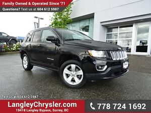 2015 Jeep Compass Sport/North W/ 4X4, LEATHER UPHOLSTERY & HE...