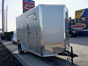 """7X12 Single Axle Cargo Trailers 7'6"""" Interior For Side By Sides"""