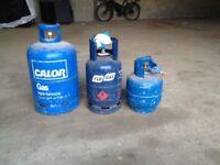 Three Gas Cylinders