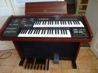 Yamaha Electrone Electric Organ. MC200, 107cms wide, 41cms deep.