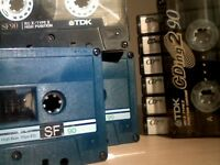 TDK CHROME DIOXIDE CASSETTE TAPES, CDing & SF's C90's ; IEC 2 / TYPE 2 HIGH POSITION USED BLANKS.