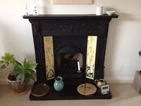 Reproduction Cast Iron Victorian Fireplace