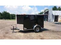 WINTER CLEARANCE**  CARGO TRAILER 5x8 V-Nose RAMP