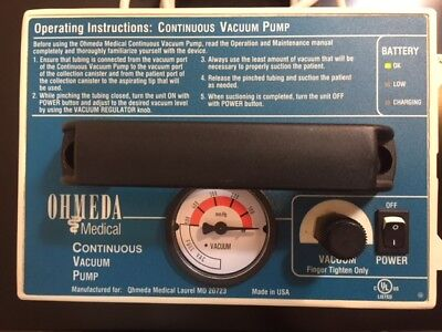 Ohmeda Medical Portable Continuous Vacuum Pump With New Battery Supplies Ready