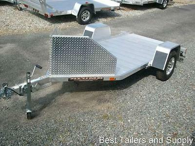 Aluma MC10 single Motorcycle trailer Utility Trailer  aluminum w upgraded chock