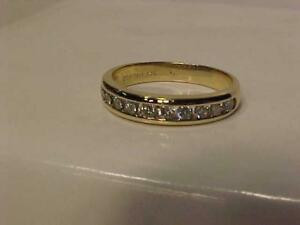 #3261-OVER 1/2 ct(.51ct)14k yellow gold WEDDING BAND Size 7 1/2-APPRAISED $2,350.00 SELL $625.00-FREE S/H & APPRAISAL