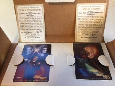 STAR TREK NEXT GENERATION PORCELIN CARD COLLECTION