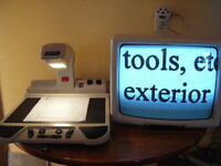 Optelec Video Magnifier/Reading machine.(up to 50x magnification