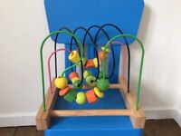 Bead roller coaster wooden toy