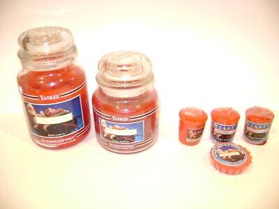 6 piece Yankee Candle Christmas Eve 22 oz, 14.5 oz Votive & Tart Free Shipping
