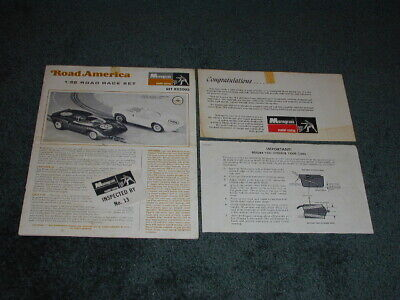 ORIGINAL VINTAGE MONOGRAM 1/32 SCALE ROAD AMERICA ROAD RACE SET -