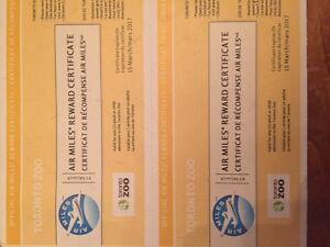 2 toronto zoo tickets