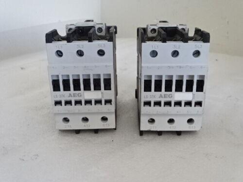 AEG LS37K Contactor 600V  100A 3P AC-1 24VAC COIL LOT OF 2