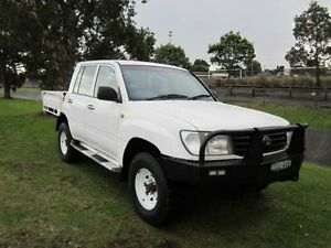 1998 Toyota Landcruiser HZJ75RP (4x4) White 5 Speed Manual 4x4 Cab Chassis Tighes Hill Newcastle Area Preview