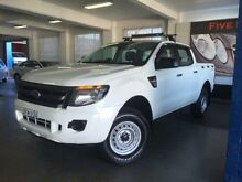 2014 Ford Ranger PX XL 2.2 HI-Rider (4x2) White 6 Speed Automatic Crewcab Five Dock Canada Bay Area Preview