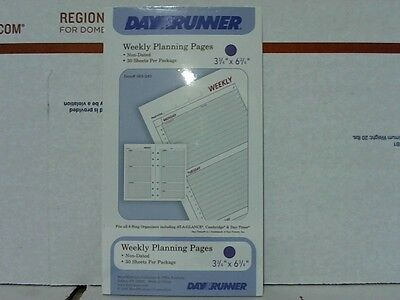 Dayrunner 063-240 Weekly Planning Pages. 30 Sheets Non-Dated DR4058-10 (Day Runner Dated Weekly Refills)