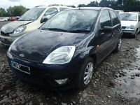 BREAKING FORD FIESTA ZETEC MK6 BLACK 2003 5DR 1.4 PETROL MANUAL 91K