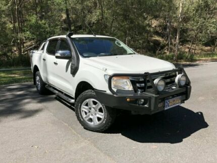 2014 Ford Ranger PX XLT DUAL CAB White Manual Utility Springwood Logan Area Preview