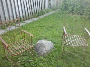 iron patio garden chairs