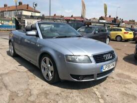 2006 Audi A4 CONVERTIBLE Cabriolet 1.8T S LINE, FULL LEATHER SEATS.