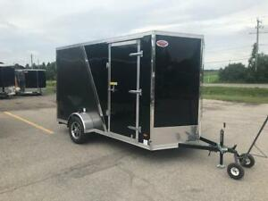 2019 HAULIN ENCLOSED CARGO TRAILER 6X12 RAMP DOOR PLAT PKG 6'6""