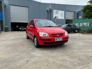 2004 Hyundai Getz TB XL Red 5 Speed Manual Hatchback Newport Hobsons Bay Area Preview