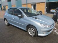 peugeot 206 2006 06,reg 1.4 petrol 1 years mot very good condition/runner £1095 px/welcome