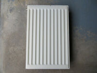 White Double Radiator 400mm wide x 600mm tall.