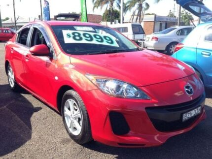 2011 Mazda 3 BL 10 Upgrade Neo Red 5 Speed Automatic Sedan Broadmeadow Newcastle Area Preview
